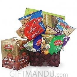 Sweet and Salty Mother's Day Basket - Sweets and Namkeens (8 Items)