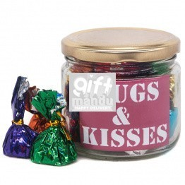 Hugs & Kisses Message Candy Jar