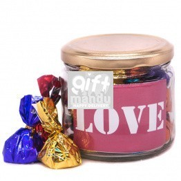 Candy Jar With Love Message