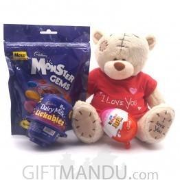 Teddy Bear & Chocolates Pack