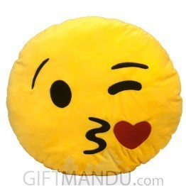Kissing Face With Smiling Eyes~ Emoji (13 inch)