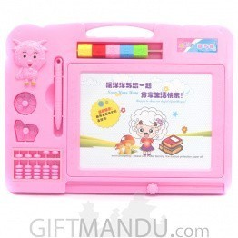 Magnetic Drawing Board For Kids (Pink)