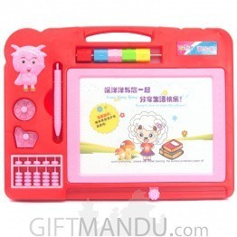 Magnetic Drawing Board For Kids (Red)