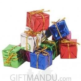 Christmas Tree Ornament Decoration - Small Square Box Gift Boxes (12 pcs)