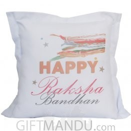 Happy Raksha Bandhan Printed Cushion