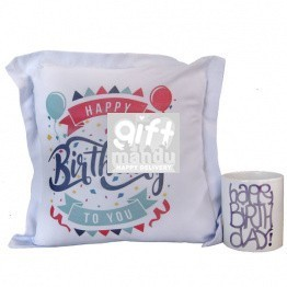 Birthday Special Printed Cushion And Coffee Mug