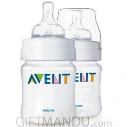 Philips Avent SCF680/27 New Born Feeding 2 x Bottles 125ml Set (0+ Month)