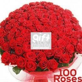 100 Long Stem Fresh Red Roses