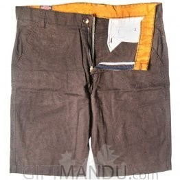 Summer Cotton Half Pant (Brown)