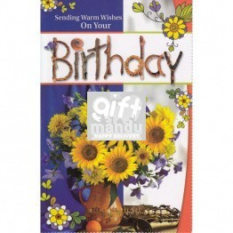 Sending Warm Wishes On Your Birthday - Greeting Card