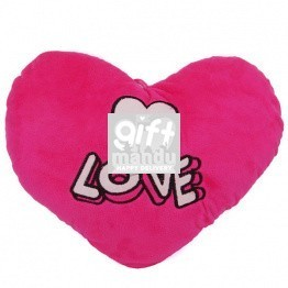Pink Love Valentine Heart Pillow With Small White Heart