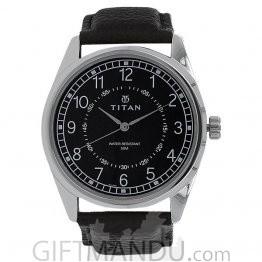 Titan Black Dial Analog Watch for Men (1729SL02)