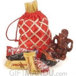 18 Miniature Chocolates With Lord Ganesh Statue