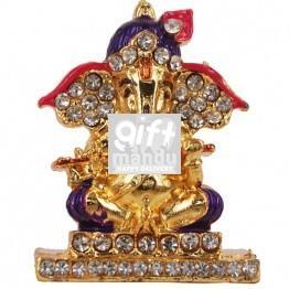 Beautiful Mini Metal Ganesh Ji With Bansuri