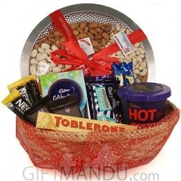 Dry Nuts Tray and Chocolates