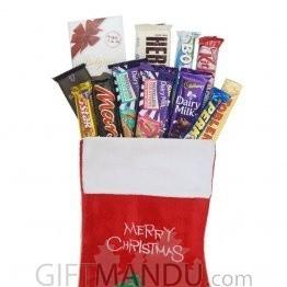Chocolates In Christmas Sock