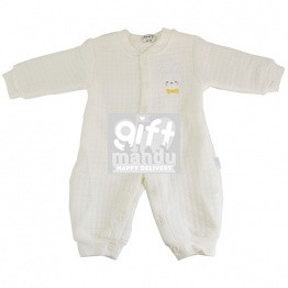 Soft Baby Jump Suit For New Born Baby (Yellow)
