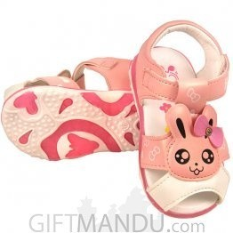Cute Pink Sandal Shoe For Baby Girl