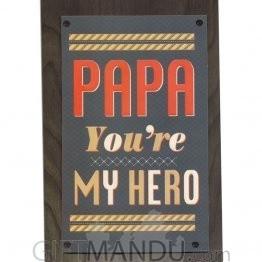 PAPA You're My Hero - Greeting Card