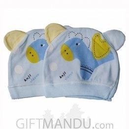 Sky Blue Cap For Babies (2 Pcs) (KAP-9108)