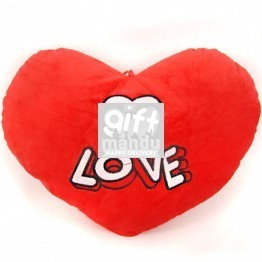 Red Love Valentine Heart Pillow With Small White Heart