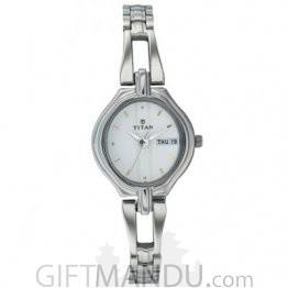 Titan Karishma White Dial Analog Watch for Women (2345SM01)
