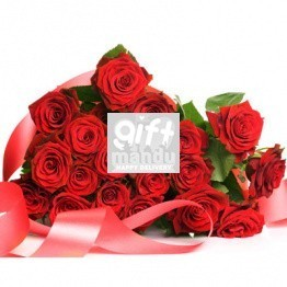 She Sure Loves Red Roses (20 Fresh Luxury Dutch Roses Bouquet)