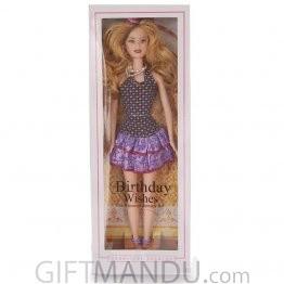 Birthday Wishes Fashion Girl Doll - Purple Dress