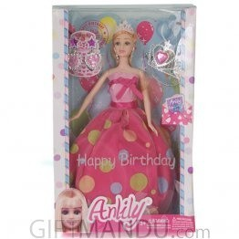 Birthday Wishes Beautiful Barbie Doll - Pink Dress