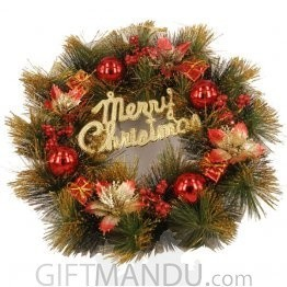 Christmas Decoration Wreath (11 Inch Diameter)