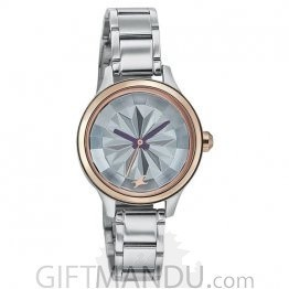 Fastrack Analog Silver Dial Women's Watch(6132KM01)