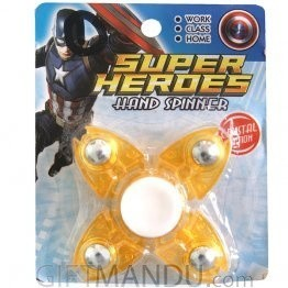 Super Heroes Hand Spinner - Yellow