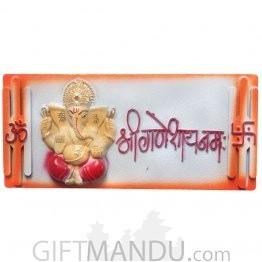 Samrat Ganesh Decoration For Wall Hanging (Orange)