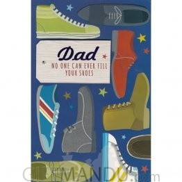 Dad No One Can Ever Fill Your Shoes - Greeting Card