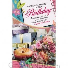 Wishing You Happiness On Your Birthday - Greeting Card (GC-5381)