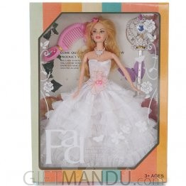 Beautiful Barbie Doll Set - White Dress