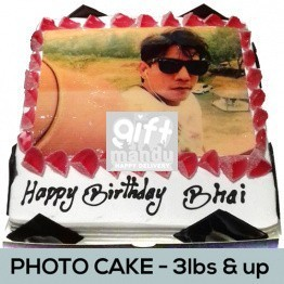 More Flavors Photo Cake (Print Any Photo) for Kathmandu Valley (3lbs & Up)
