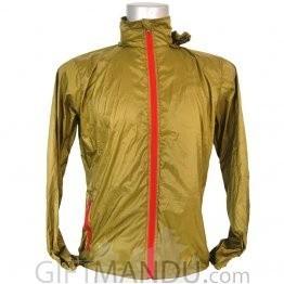 Green Full Sleeves Polyester Windcheater (XL)