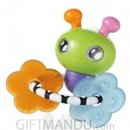 Kidsme Bee Rattle Toy with Ring (BF-9730)