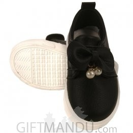 Cute Black Shoe For Baby Girl (12 - 18 Months)
