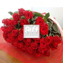 50 Long Stemmed Fresh Red Roses for Valentine's Day - HID