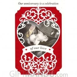Our Anniversary is a Celebration of our Love - Greeting Card