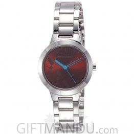 Fastrack Stainless Steel Case Brown Dial Analog Watch for Women (6150SM02)