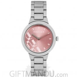 Fastrack Metal Case Pink Dial Analog Watch for Women (6150SM04)