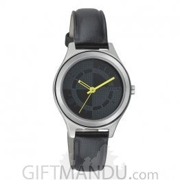 Fastrack leather Case Grey Dial Analog Watch for Women - (6152SL01)
