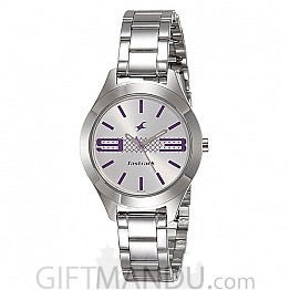 Fastrack Silver Dial Analog Watch for Women (6153SM01)