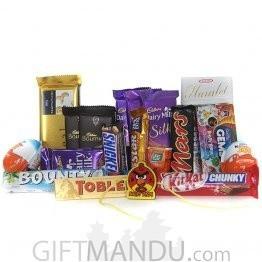 Kids Rakhi Thread with Chocoholic Gifts for Rakhi