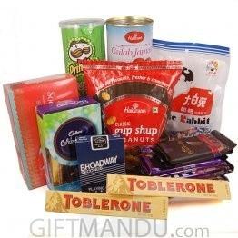 Chocolates, Snacks and Playing Card