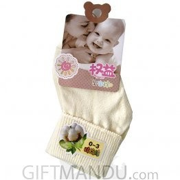 Yellow Cotton Baby Socks