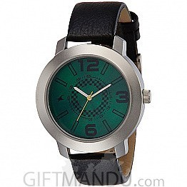 Fastrack Green Dial Analog Watch for Men - 3120SL03